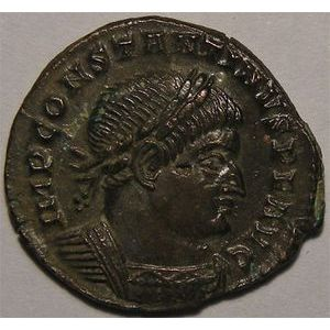 Monnaie romaine, empereur, Constantin I, Contantinus I, follis, R/ SOLI INVICTO COMITI
