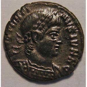 Monnaie romaine, empereur, Constantin II, centenionalis ou nummus, R/ GLORIA EXERCITVS