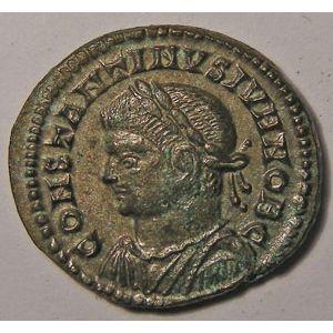 Monnaie romaine, empereur, Constantin II, Constantinus II, Centenionalis,  R/ CAESARVM NOSTRORVM VOT X, 3.25 Grs, Cohen: 40