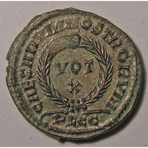Monnaie romaine, empereur, Crispus, Crispe, Centenionalis,  R/ CAESARVM NOSTRORVM VOT X, 3.18 Grs, Cohen: 44