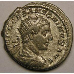 Monnaie romaine, empereur, Elagabale, antoninien, R/ SALVS ANTONINI AVG