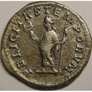 Monnaie romaine, empereur, Macrin, Antoninien, R/ FELICITAS TEMPORVM