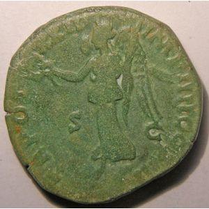 Monnaie romaine, empereur, Marc Aurèle, Marcus Aurelius, Sesterce,  R/ TR POT XXII IMP IIII COS III  SC
