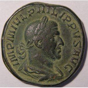 Monnaie romaine, empereur, Philippe I, sesterce, R/ ANNONA AVGG  SC