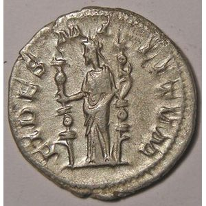 Monnaie romaine, empire romain, Maximin I, Maximinus I, Denier, R/ FIDES MILITVM, 2.55 Grs, TTB