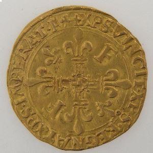 Monnaie royale, François 1er, écu d'or au soleil, Duplessy 775.  Point 12° Lyon