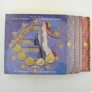 Monnaies Euros, France, Coffret BU 1999-2002, ouvert