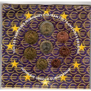 Monnaies Euros, France, Coffret BU 2002, Neuf