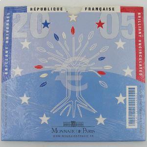 Monnaies Euros, France, Coffret BU 2005, neuf ouvert