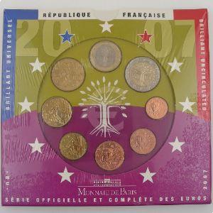 Monnaies Euros, France, Coffret BU 2007, neuf