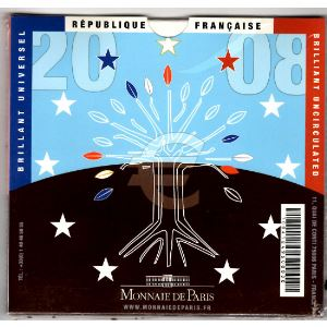 Monnaies Euros, France, Coffret BU 2008, Neuf ouvert