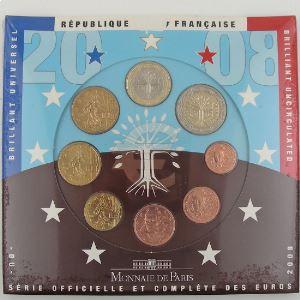 Monnaies Euros, France, Coffret BU 2008, neuf