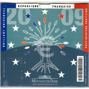 Monnaies Euros, France, Coffret BU 2009, Neuf