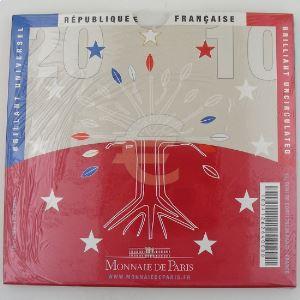 Monnaies Euros, France, Coffret BU 2010, neuf ouvert