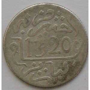 Morocco, 1/2 Dirham 1320 H Paris, TB, Lec: 111
