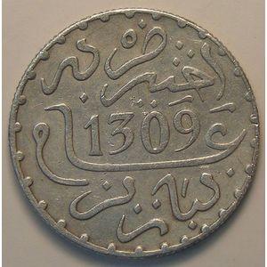 Morocco, Hassan I, 1 Dirham 1309 H