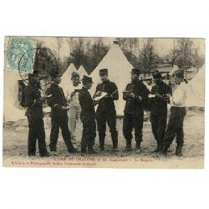 MOURMELON LE GRAND - Camp de Chalons - Un Campement - Le Rapport
