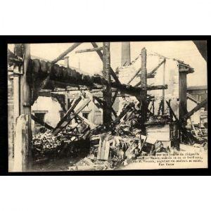 NANCY - Incendie causé par une Bombe Dirigeable chez M. Maurice, Négociant en Couleurs et Vernis, Rue Victor