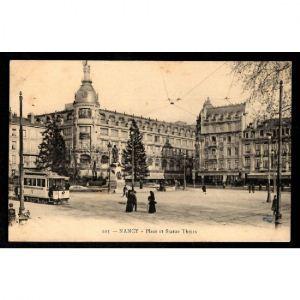 NANCY - Place et Satue Thiers