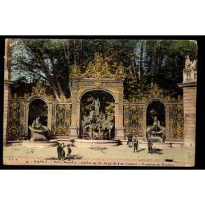 NANCY - Place Stanislas - Grilles en Fer Forgé de Jean Lamour - Fontaine de Neptune