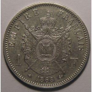 Napoléon III, 1 Franc 1868 A Paris, SUP+, Gadoury: 463