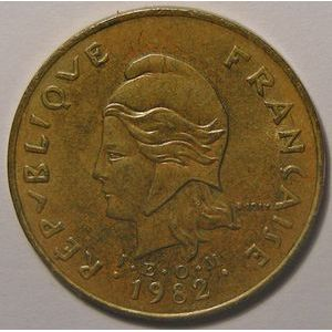 New Hebrides, Rare 5 francs 1982 TTB+/SUP