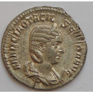 OTACILE SEVERE, OTACILIA SEVERA, Antoninien, PVDICITIA AVG, TTB/SUP