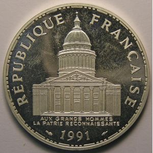 Panthéon, 100 Francs 1991 BE, SUP+, KM# 951.1