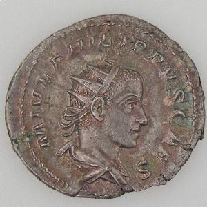 PHILIPPE II, PHILIPPUS II, Antoninien, PRINCIPI IVVENT, TTB+/SUP