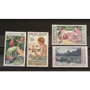 Polynésie Française, Poste Aérienne n°1-4 N** Cote 85.50€