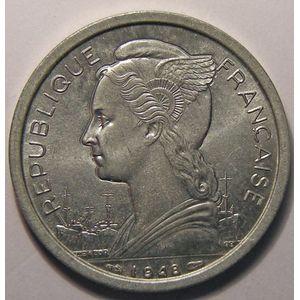 Réunion , 2 Francs 1948 SPL, Lec: 62
