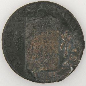 Révolution Française, Convention, Sol aux balances 1791 D°, Gad: 19, TB
