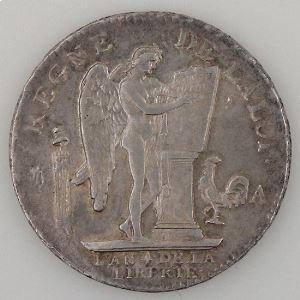 Révolution Française, Constitution, Ecu de 6 livres, 1792 A Paris, KM# 615.01, TTB/TTB+