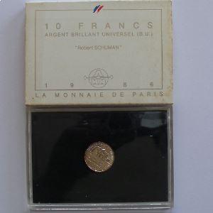 Robert Schuman, 10 Francs 1986, BU argent , KM#958a