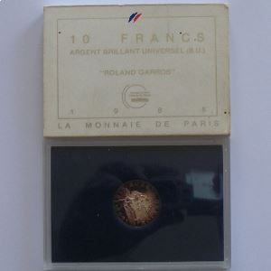 Roland Garros, 10 Francs 1988, BU argent, KM#965a