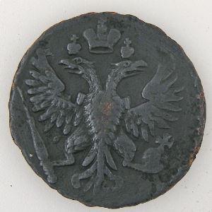 Russie, Russia, 1/2 Kopeck 1750, TB+, KM #188