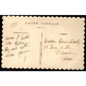 SAINT NICOLAS - Carte Postale avec BRODERIE - SAINT NICOLAS