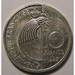 Schuman, 10 Francs 1986 SUP, Gad: 825