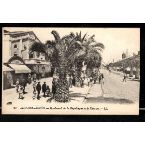 SIDI BEL ABBES - Boulevard de la République et le Théâtre