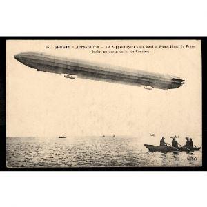 Sport - AEROSTATION - Le ZEPPELIN ayant à son bord le Prince Henri de Prusse évolue au dessus du Lac de Constance