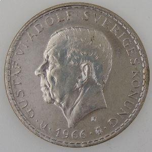Suède, 5 Kronor 1966, SUP, KM# 839