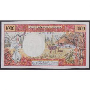 Tahiti, Papeete, 1000 Francs ND 1971, VF+