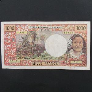 Tahiti, Papeete, 1000 Francs ND 1985, VF/VF+