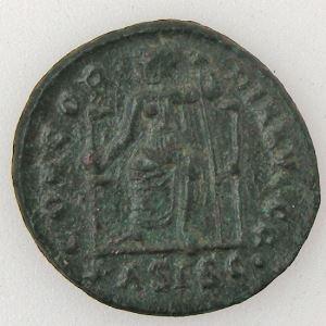 THEODOSIUS I, Nummus, R/ CONCORDIA AVGGG, TB+/TTB
