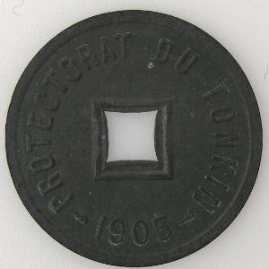Tonkin, 1/600ème de Piastre 1905, SUP, KM# 1