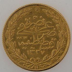 Turquie, 100 Kurush 1327/4, KM#754