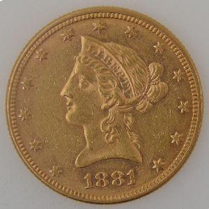 U.S.A, Etats-Unis d'Amérique, 10 Dollars 1881, SUP, KM #102