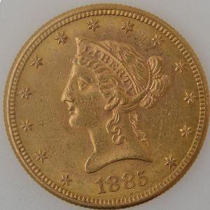 U.S.A, Etats-Unis d'Amérique, 10 Dollars 1885 S, SUP, KM #102