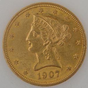 U.S.A, Etats-Unis d'Amérique, 10 Dollars 1907, SUP, KM #102