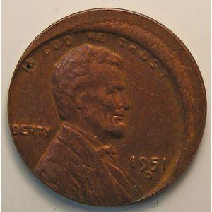 USA, Error, 1 Cent 1951 D, TTB+, KM# A132